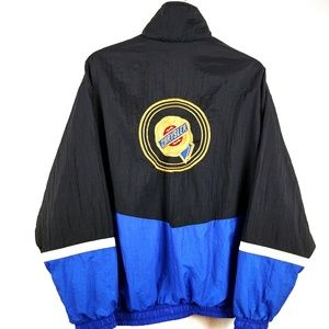 Vtg Chrysler Mopar Colorblock Zip 90s Windbreaker